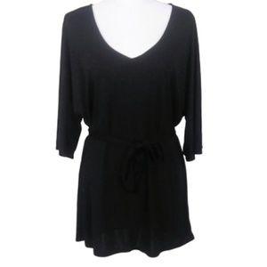 Deletta Black 3/4 Sleeve Blouse